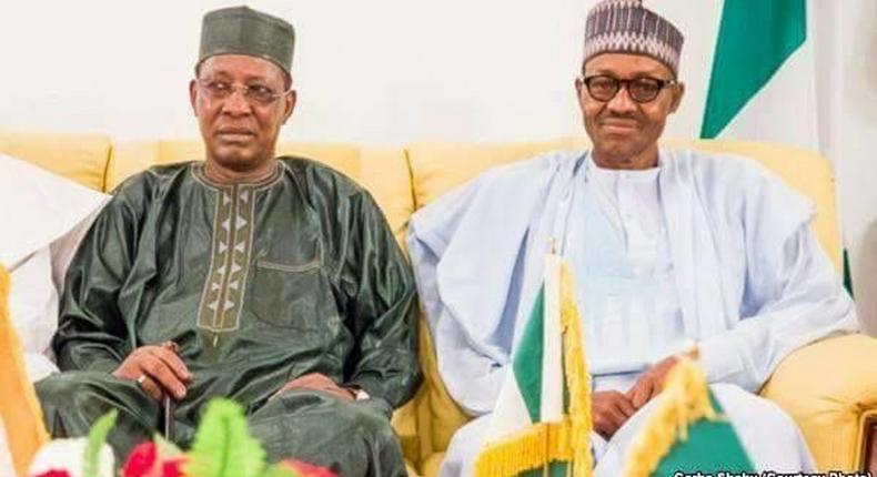 President Muhammadu Buhari and President Idriss Deby  of Chad.  (Presidency)