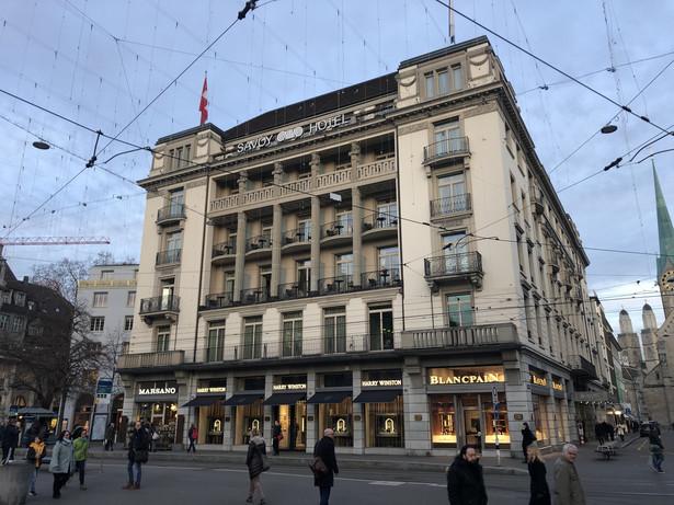 Savoy Hotel w Zurychu, Szwajcaria. Źródło: By Adrian Michael - Own work, CC BY 3.0, https://commons.wikimedia.org/w/index.php?curid=85922039