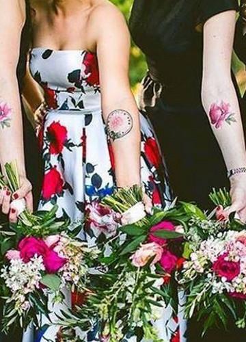 Tatuaże Jak Prawdziwe Kwiaty Pachną I Wyglądają Identycznie