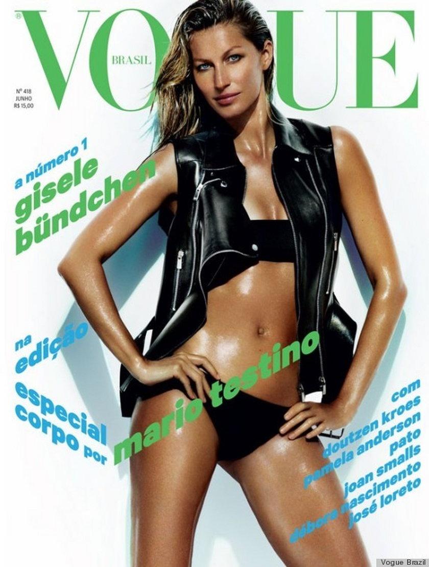 """Gisele Bundchen na okładce """"Vogue Brazil"""" czerwiec 2013"""