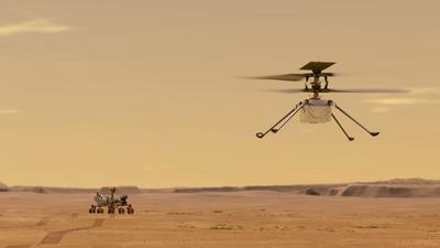 Ingenuity znowu wzbił się w powietrze na Marsie. NASA przeleciała ponad 100 m