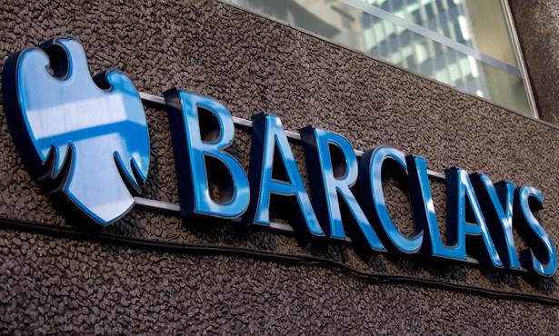Logo banku Barclays PLC., fot. Simon Dawson/Bloomberg