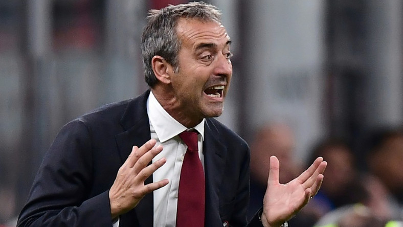 Marco Giampaolo lost four of his seven games in charge of AC Milan.
