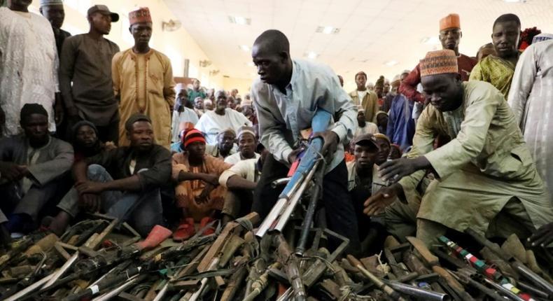Repentant bandits surrender 203 firearm to Zamfara govt/Illustration