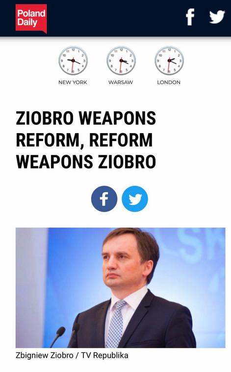 "Wpadka portalu ""Poland Daily"""