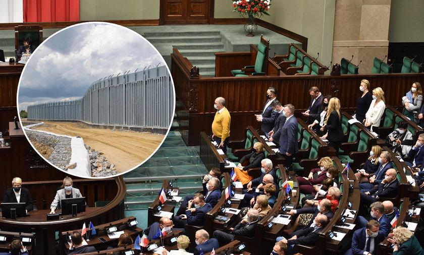 Mur na granicy będzie wybudowany poza prawami budowlanymi