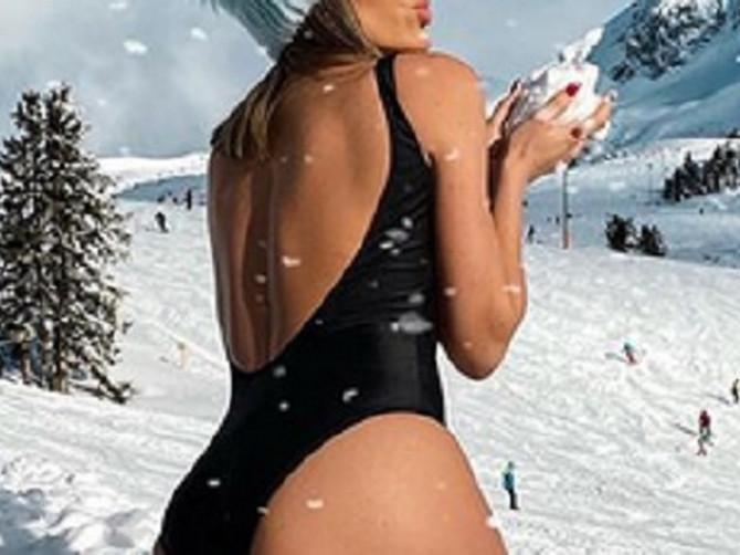 Skinula se u kupaći, a oko nje SMETOVI SNEGA: Bosanska Paris Hilton objavila vrele fotke i zaključila da je OPET NAJLEPŠA