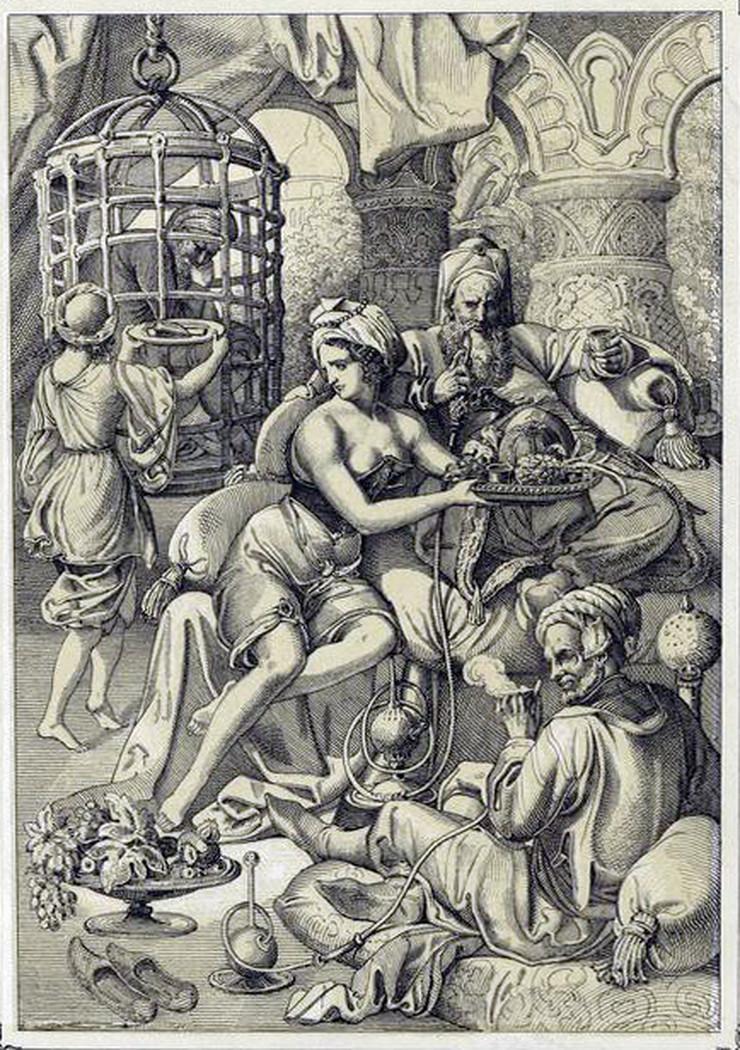 Peter Johan Nepomuk Gajger, Olivera Lazarević i sultan Bajazit u Tamerlanovom zatočeništvu, 1860.
