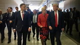 Nagłe spotkanie z Trumpem. Duda wpadł na niego w korytarzu
