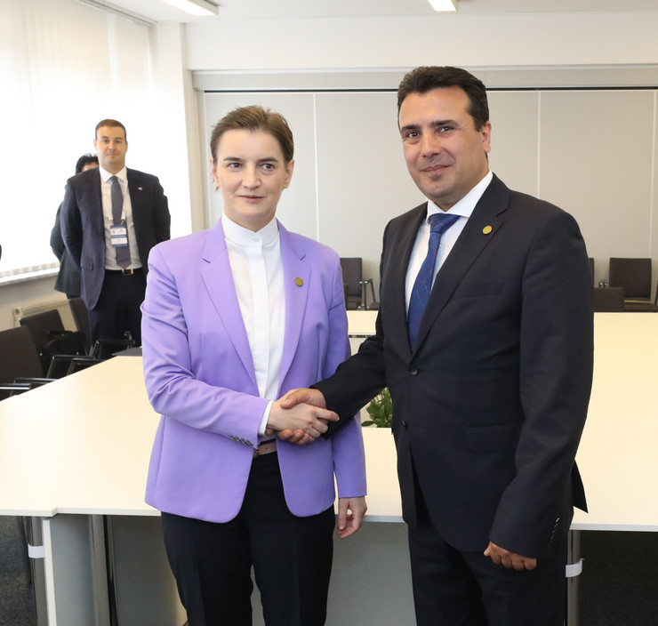 Ana Brnabić, Zoran Zaev, foto Vlada RS