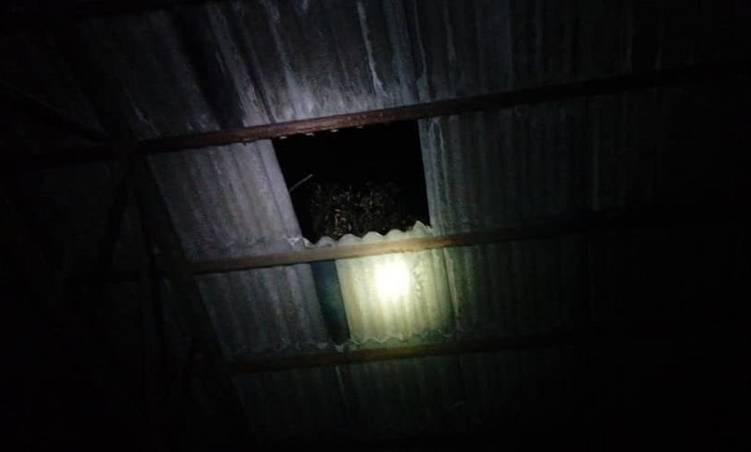 Pod nastolatką załamał się dach