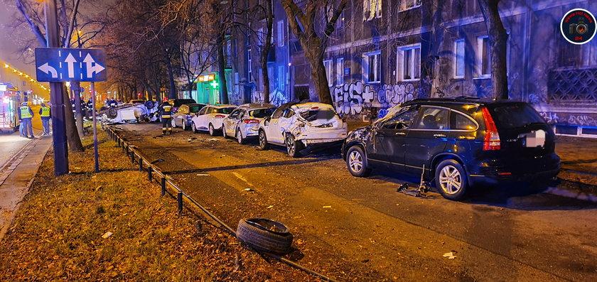 Dramatyczny wypadek samochodowy w Warszawie