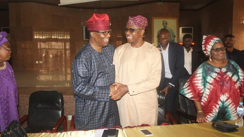 Former Governor Gbenga Daniel endorses Dapo Abiodun of the APC for Ogun governorship election (Adekoya Boladare)