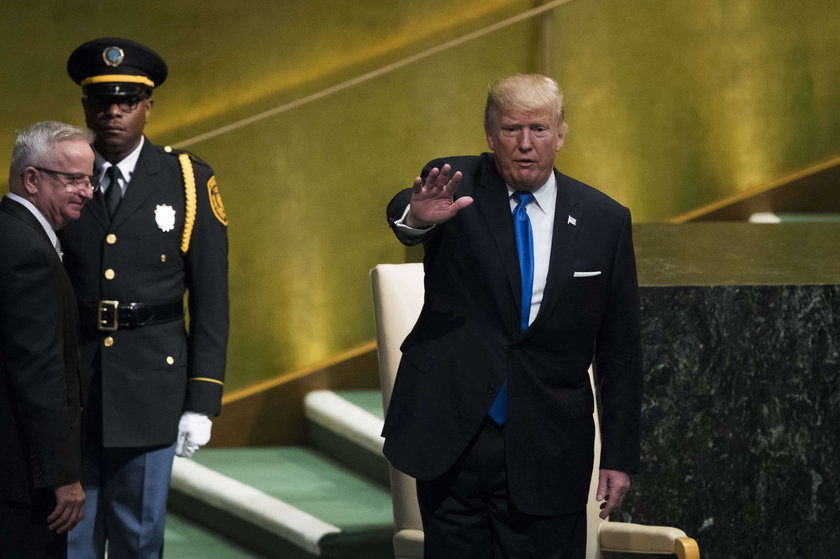 President Trump Arrives At The United Nations To Address The General Assembly