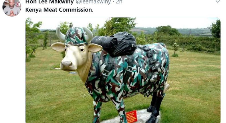 A tweet posted on the trending topic Kenya Meat Commission after President Uhuru Kenyatta transferred the body to the Ministry of Defence