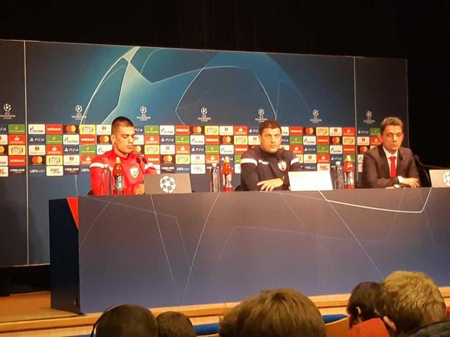 Vujadin Savić i Vladan Milojević na konferenciji za medije pred duel sa Pari Sen Žermenom