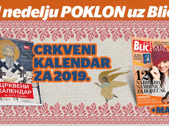 """Blic"" vam poklanja crkveni kalendar"
