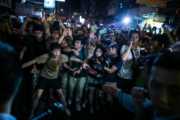 Prodemokratyczne protesty na ulicach Hongkongu w październiku 2014 roku