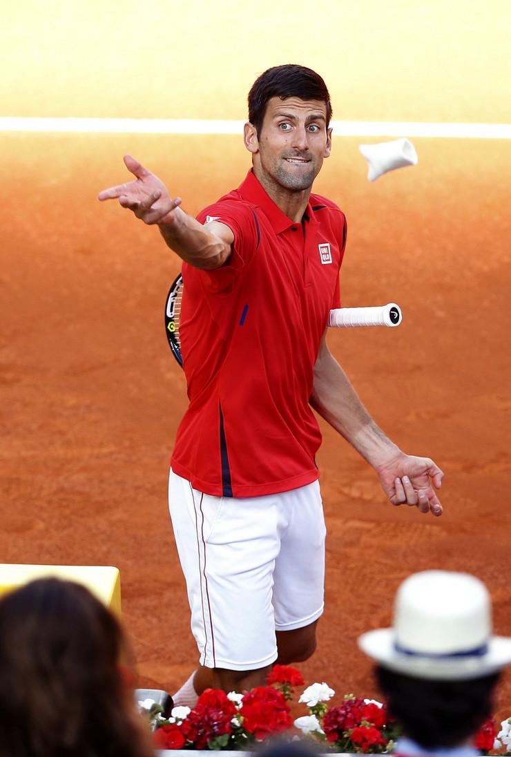 Novak Đoković na turniru u Madridu