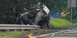 Samochód uderzył w drzewo i stanął w płomieniach. Kierowca nie miał szans...