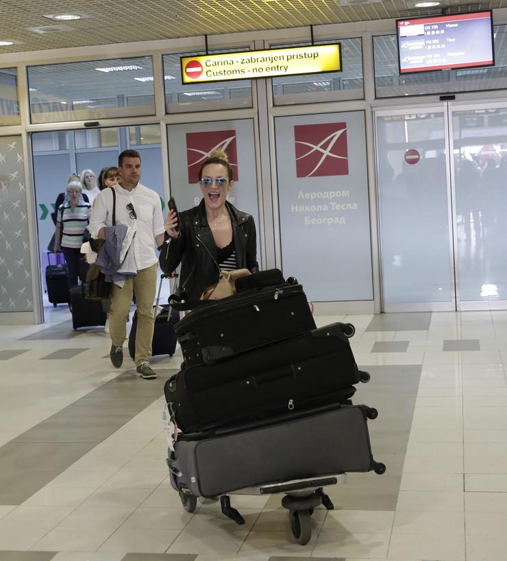 Tijana Bogićević na aerodromu