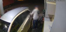 Tak wpadł seryjny złodziej paliwa. Nagrały go kamery