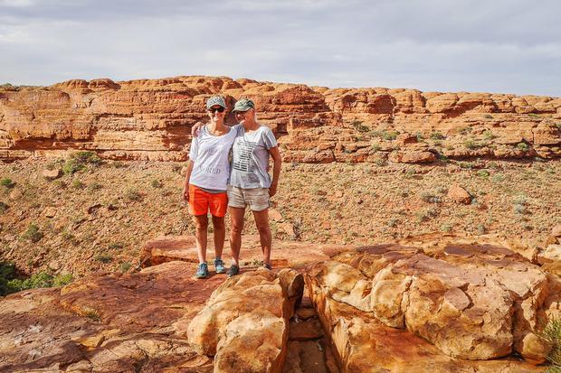 Julia z mamą w Kings Canyon