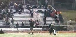Strzelanina podczas meczu. Dwie osoby ranne