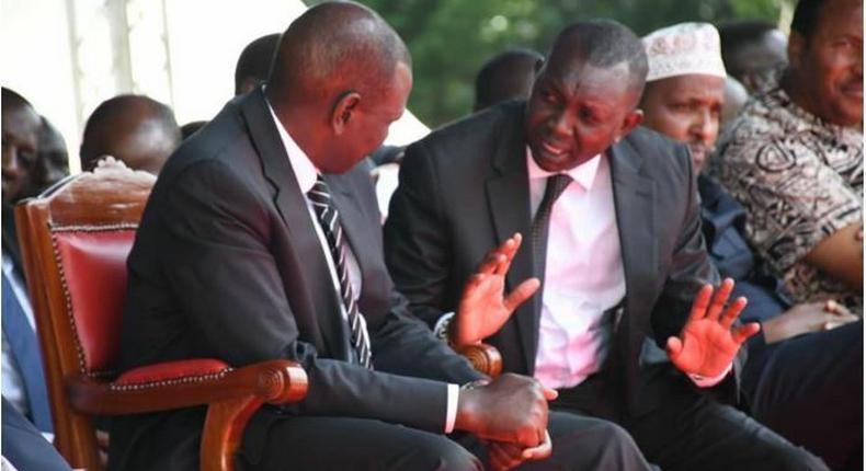 File image of DP Ruto with Oscar Sudi