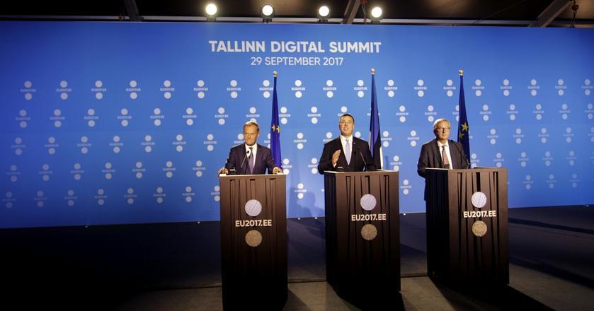 Konferencja prasowa po szczycie cyfrowym UE w Tallinie