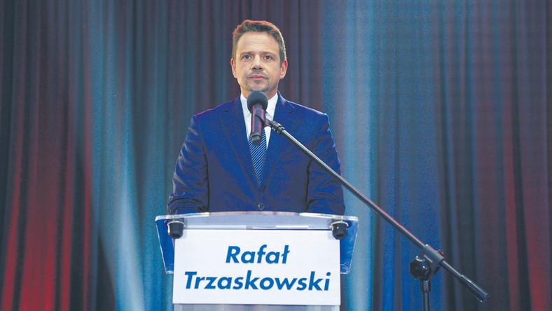 Rafał Trzaskowski odpowiadał na pytania dziennikarzy w Lesznie