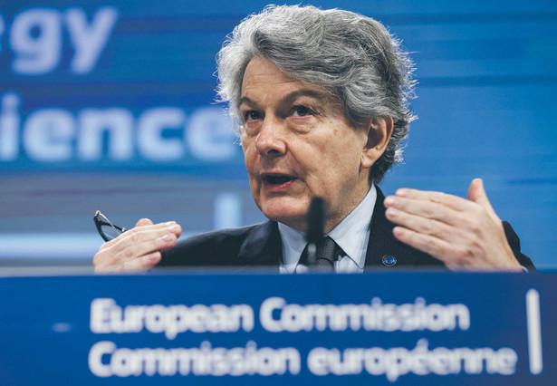 Unijny komisarz Thierry Breton przygotował przepisy, które mają organizować cyfrową przestrzeń UE