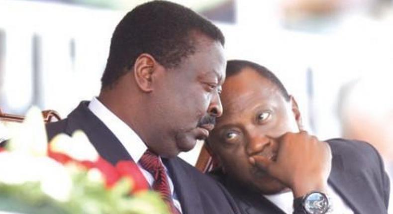 President Uhuru Kenyatta with Musalia Mudavadi