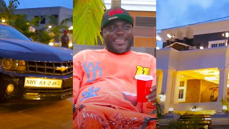 Nhyiraba Kojo flaunts his 9-bedroom mansion, cars; shades Shatta Wale again (VIDEO) [ARTICLE]