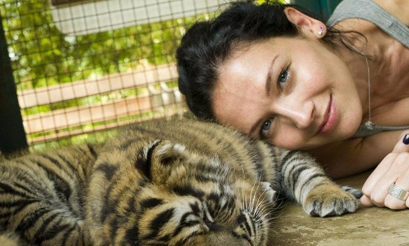 Andżelika Piechowiak z tygryskami