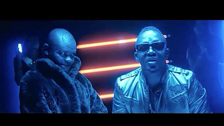 M.I Abaga and Francis Odega in 'Bullion van' video.