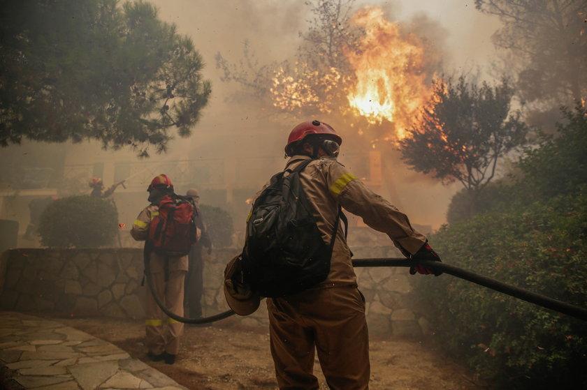 Ogromne pożary w Grecji