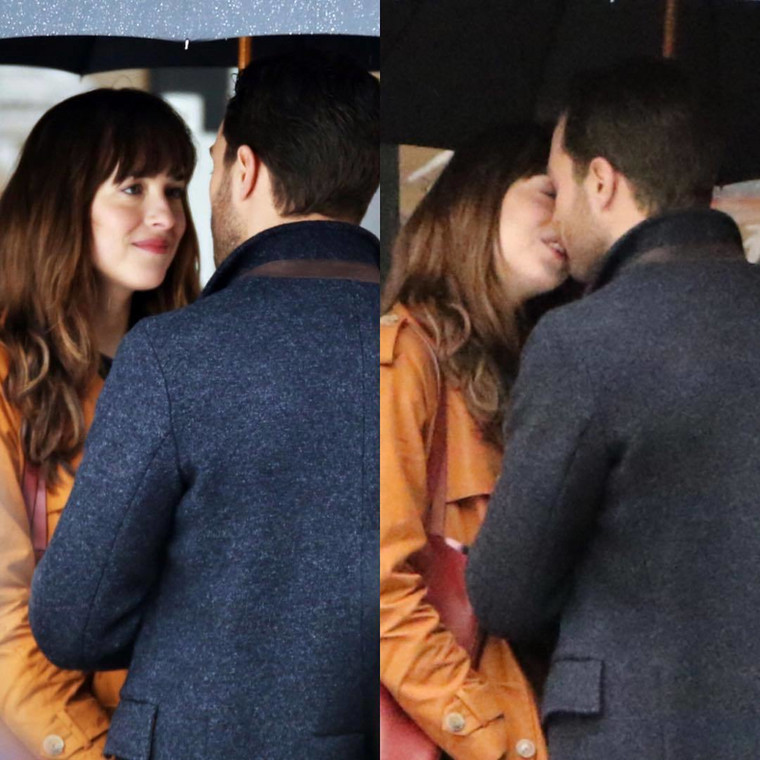 Jamie Dornan całuje Dakotę Johnson