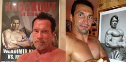 Schwarzenegger i Kliczko prężą muskuły!