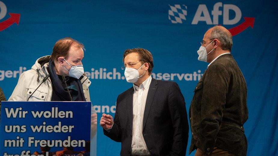 Politycy AfD na spotkaniu w Bawarii