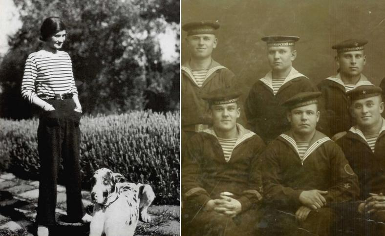 Paski, które wcześniej nosili głównie marynarze i prostytutki do mody wprowadziła Coco Chanel