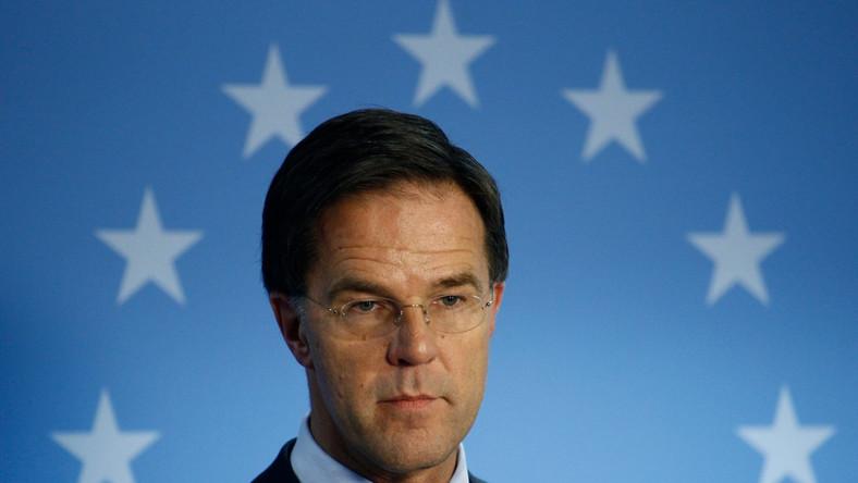 Premier Mark Rutte, na którego miano przygotowywać zamach