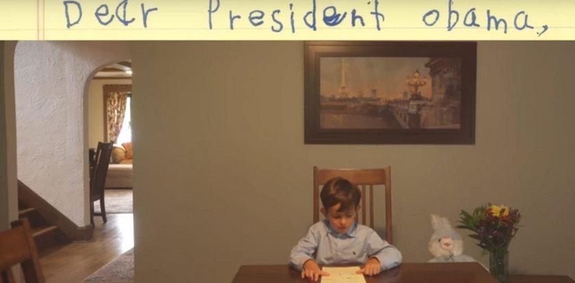 Wzruszający list dziecka do prezydenta. O co prosi?
