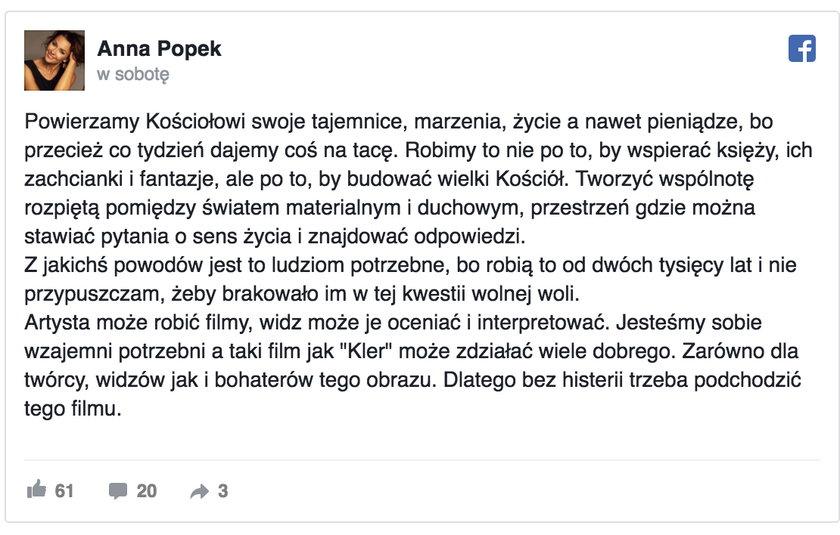 Wpis Anny Popek