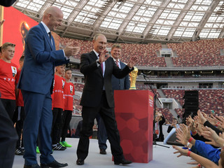 Russian President Vladimir Putin FIFA World Cup Trophy Tour