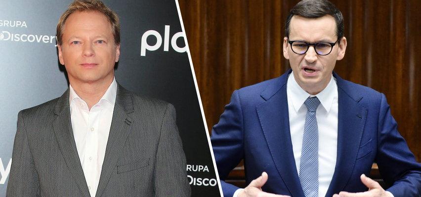 """Maciej Stuhr ostro o wystąpieniu premiera Morawieckiego w PE. """"Wstając z kolan, spadliśmy na twarz w błoto. Wstyd!"""""""