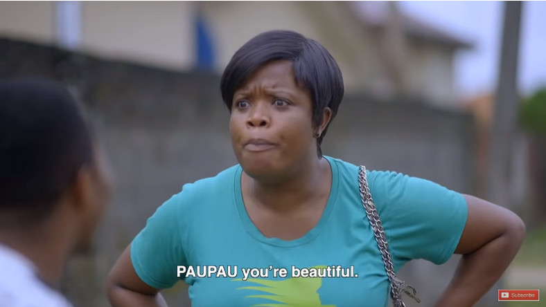 Pauline finds love in the sight of Olamilekan in Aiyetoro. [YouTube/SceneOne TV]