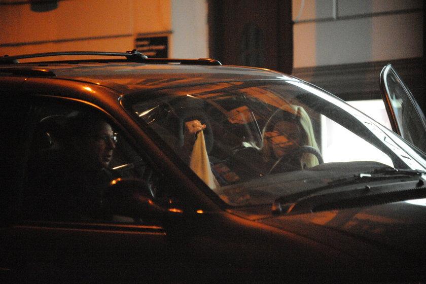 Zbigniew Zamachowski i Monika Richardson w samochodzie