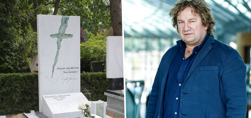 Ponad rok od śmierci Pawła Królikowskiego na jego grobie stanął pomnik. A na nim wzruszające słowa [ZDJĘCIA]