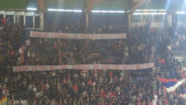 """""""Delije"""" su transparentom pokazali šta misle o Omiću"""